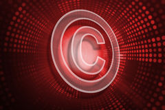 Composite image of copyright symbol Royalty Free Stock Photography