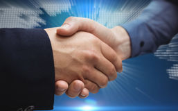 Composite image of corporate people shaking hands Royalty Free Stock Photography