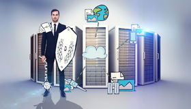 Composite image of corporate warrior Stock Photography