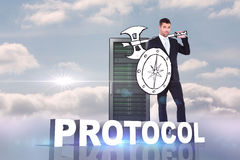Composite image of corporate warrior Stock Images