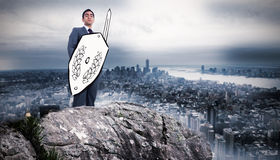 Composite image of corporate warrior Royalty Free Stock Photo