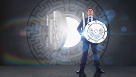 Composite image of corporate warrior Royalty Free Stock Photography