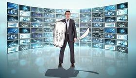 Composite image of corporate warrior Stock Photo
