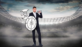 Composite image of corporate warrior Royalty Free Stock Images