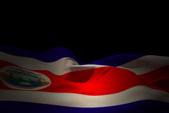 Composite image of costa rica flag waving Royalty Free Stock Images