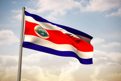 Composite image of costa rica national flag Royalty Free Stock Photos