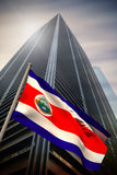 Composite image of costa rica national flag Royalty Free Stock Photo