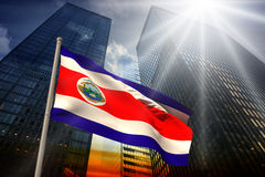 Composite image of costa rica national flag Stock Images