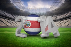 Composite image of costa rica world cup 2014 Stock Photo