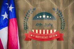 Composite image of creased us flag. Creased US flag against beige crumpled paper vector illustration
