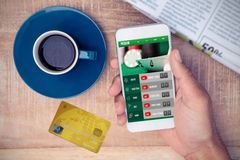 Composite image of credit card Royalty Free Stock Images