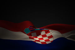 Composite image of croatia flag waving Stock Image