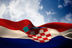 Composite image of croatia flag waving Royalty Free Stock Photography