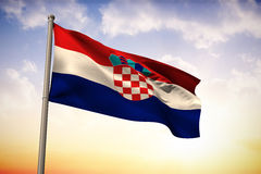 Composite image of croatia national flag Royalty Free Stock Image