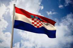 Composite image of croatia national flag Royalty Free Stock Photo