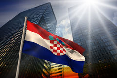 Composite image of croatia national flag Stock Images