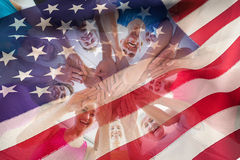 Composite image of cropped american flag Stock Photography