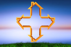 Composite image of cross made of houses Royalty Free Stock Images