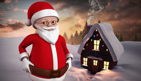 Composite image of cute cartoon santa claus Royalty Free Stock Image