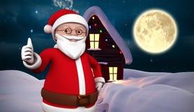 Composite image of cute cartoon santa claus Royalty Free Stock Photo