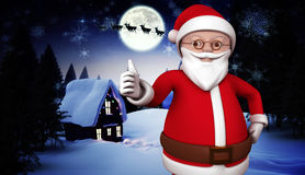 Composite image of cute cartoon santa claus Stock Photo