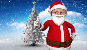 Composite image of cute cartoon santa claus Royalty Free Stock Images