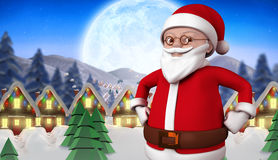 Composite image of cute cartoon santa claus Stock Photos