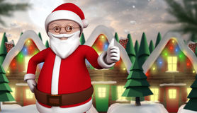 Composite image of cute cartoon santa claus Stock Photo