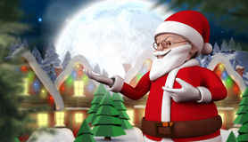 Composite image of cute cartoon santa claus Royalty Free Stock Photography