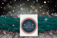 Composite image of cute cartoon santa claus Stock Image