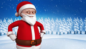 Composite image of cute cartoon santa claus Stock Photography