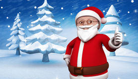 Composite image of cute cartoon santa claus Stock Images