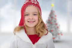 Composite image of cute girl in hat Stock Images