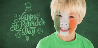 Composite image of cute irish boy Royalty Free Stock Photography