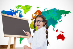 Composite image of cute pupil with chalkboard Royalty Free Stock Photography
