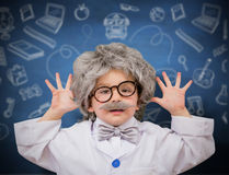 Composite image of cute pupil dressed as scientist Royalty Free Stock Photography