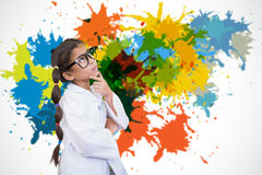 Composite image of cute pupil dressed up as scientist Royalty Free Stock Images