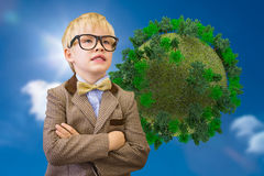 Composite image of cute pupil dressed up as teacher Royalty Free Stock Photo