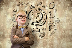 Composite image of cute pupil dressed up as teacher Royalty Free Stock Photography