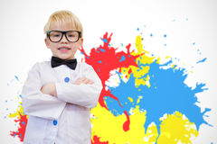 Composite image of cute pupil dressed up as teacher Stock Image