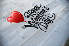 Composite image of cute valentines message Royalty Free Stock Photos