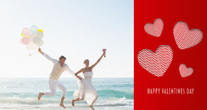 Composite image of cute valentines message Royalty Free Stock Photo
