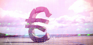 Composite image of 3d composite image of euro symbol Royalty Free Stock Photo