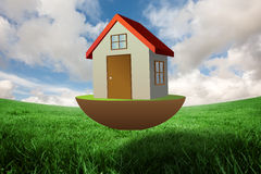 Composite image of 3d house Stock Images