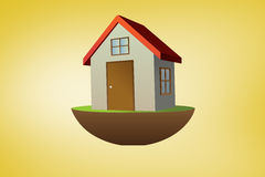 Composite image of 3d house Stock Photography