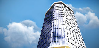 Composite image of 3d illustration of modern office building Royalty Free Stock Image