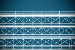 Composite image of 3d illustrative image of gray metal grate Royalty Free Stock Photography