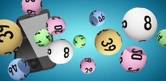 Composite image of 3d image of colorful bingo balls Royalty Free Stock Image