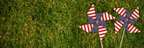 Composite image of 3d image composite of pinwheel with american flag pattern Royalty Free Stock Images