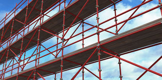 Composite image of 3d image of construction scaffolding Royalty Free Stock Photo